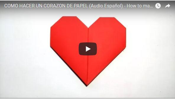 corazon papiroflexia