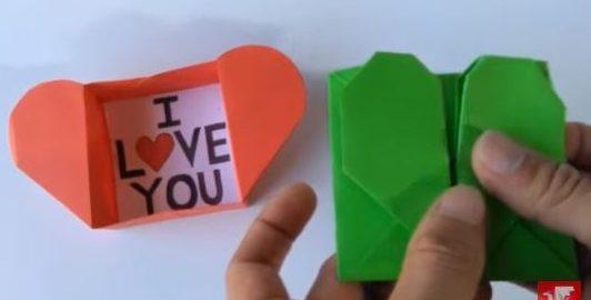 como hacer un corazon de origami paso a paso