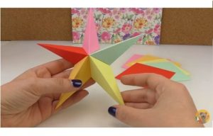 como hacer estrella de papel