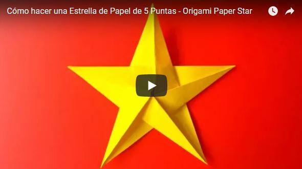 estrella de origami