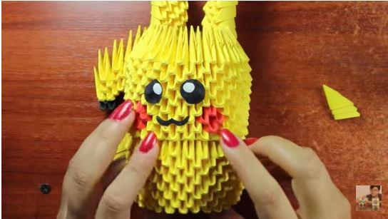 pikachu origami 3d