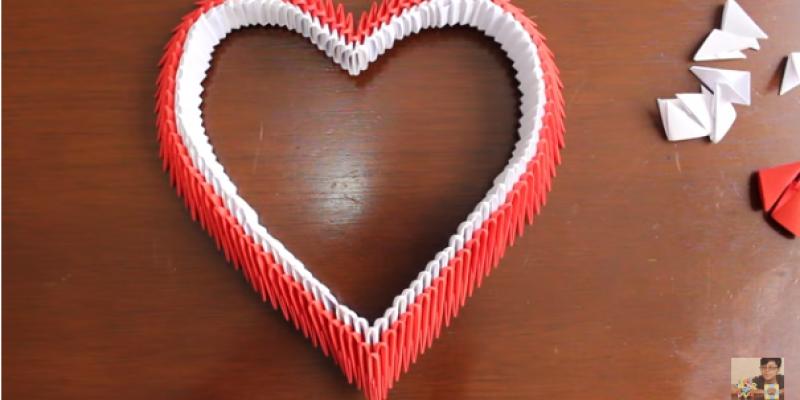 Corazón de Origami 3D