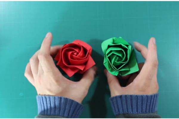 Rosa de Papiroflexia