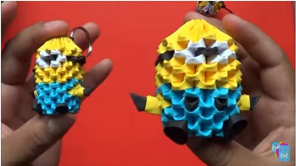 origami 3d minion bebe