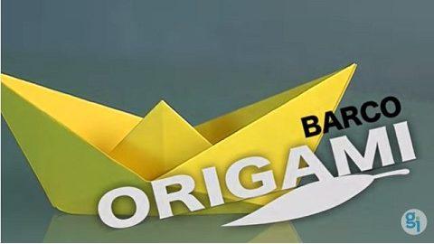 barco de papel origami