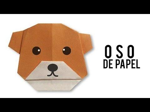 oso de origami