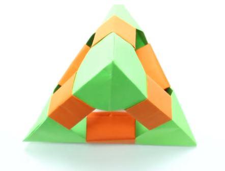 como hacer un tetraedro en origami paso a paso