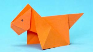 perro origami