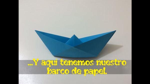 papiroflexia para niños barco